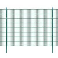vidaXL 2D Panele i słupki ogrodzeniowe 2008x1630 mm 28 m zielone