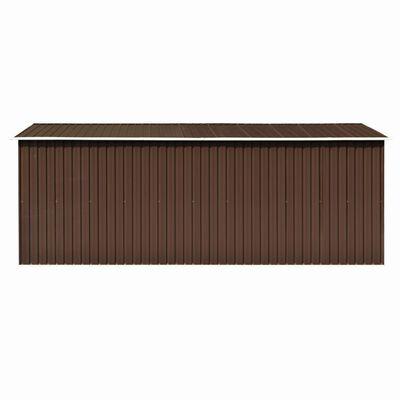 vidaXL Szopa ogrodowa, 257x489x181 cm, metal, brązowa