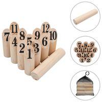 vidaXL Gra plenerowa Kubb numeryczny, wykonana z drewna