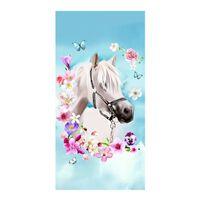 Good Morning Ręcznik plażowy MY BEAUTY, 75x150 cm, jasnoniebieski