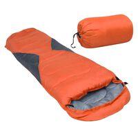 vidaXL Lekki śpiwór dziecięcy typu mumia, pomarańczowy, 670 g, 10°C