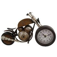 Gifts Amsterdam Zegar biurkowy Motor, metalowy, brązowy, 35x13x17,5 cm