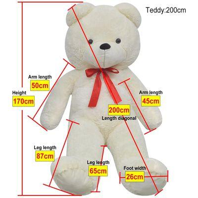 vidaXL Pluszowy miś przytulanka, biały, 170 cm