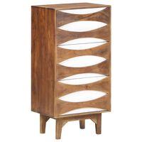 vidaXL Komoda z litego drewna akacjowego, 44x35x90 cm