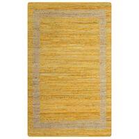 vidaXL Ręcznie wykonany dywan, juta, żółty, 160x230 cm
