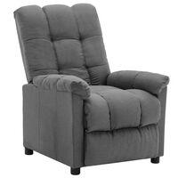 vidaXL Fotel rozkładany, jasnoszary, tapicerowany tkaniną