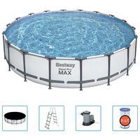 Bestway Basen Steel Pro MAX z akcesoriami, 549x122 cm