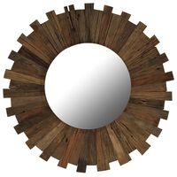 vidaXL Lustro ścienne z ramą z drewna odzyskanego, 70 cm