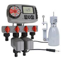 vidaXL Automatyczny sterownik z 4 stacjami i czujnikiem wilgoci, 3 V