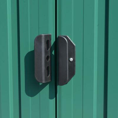vidaXL Szopa ogrodowa, 257x580x181 cm, metal, zielona