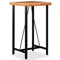 vidaXL Stolik barowy, drewno akacjowe, 60x60x107 cm