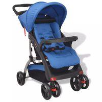 vidaXL Niebieski wózek spacerowy, 102x52x100 cm