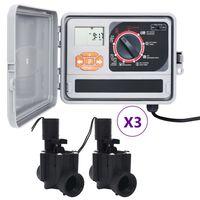 vidaXL Sterownik nawadniania ogrodu z 6 zaworami elektromagnetycznymi