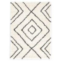 vidaXL Dywanik shaggy, wzór berberyjski, PP, beżowo-szary, 160x230 cm