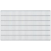 vidaXL Panele ogrodzeniowe 2D, 2,008 x 1,23 m, 20 m, szare