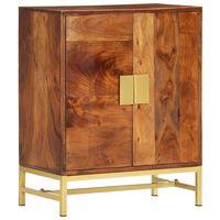 vidaXL Szafka boczna, 60x35x75 cm, lite drewno akacjowe