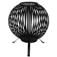 Esschert Design Palenisko w formie kuli, stal węglowa, czarne, FF400
