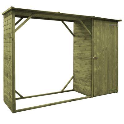 vidaXL Szopa na drewno i narzędzia, sosna, 253 x 80 x 170 cm