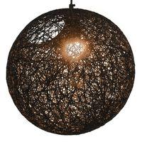 vidaXL Lampa wisząca, czarna, kula, 35 cm, E27