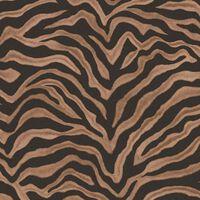 Noodwand Tapeta Zebra Print, brązowa