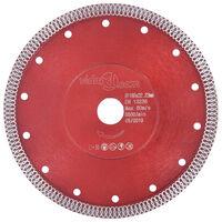 vidaXL Tarcza diamentowa z otworami, stal, 180 mm