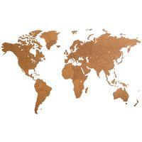 MiMi Innovations Drewniana mapa świata Giant, brązowa, 280x170 cm