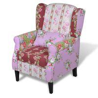 vidaXL Fotel patchworkowy, materiałowy