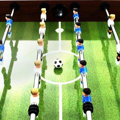 vidaXL Stół do gry w piłkarzyki, stal, 60 kg, 140x74,5x87,5cm, brązowy