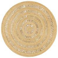 vidaXL Dywan ręcznie wypleciony z juty, 150 cm