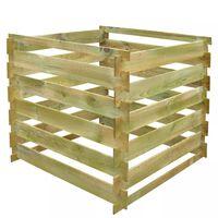 vidaXL Kompostownik z listew 0,54 m3, kwadratowy, drewno