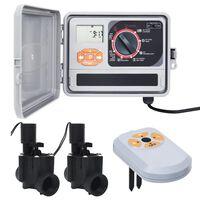 vidaXL Sterownik nawadniania z czujnikiem/ zaworem elektromagnetycznym