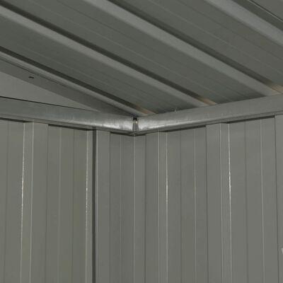 vidaXL Szopa ogrodowa, antracytowa, stalowa