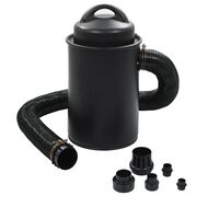vidaXL Odkurzacz do pyłu z adapterem, czarny, 1100 W