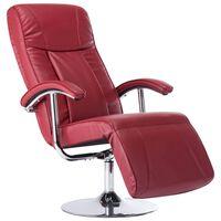 vidaXL Fotel telewizyjny, kolor czerwonego wina, sztuczna skóra