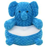 vidaXL Pluszowy słoń przytulanka, niebieski