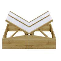 vidaXL Inspekty, 2 szt., impregnowane drewno sosnowe, 100x50x35 cm