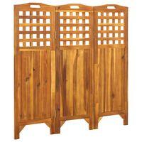 vidaXL Parawan 3-panelowy, 121x2x120 cm, lite drewno akacjowe