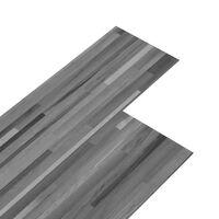 vidaXL Panele podłogowe PVC, 5,02 m², 2 mm, samoprzylepne, szare paski