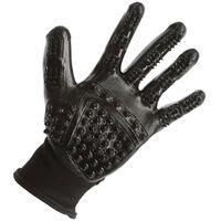 Kerbl Rękawice do czyszczenia i masażu, rozmiar L, czarne