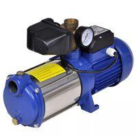 Pompa strumieniowa z miernikiem 1300 W 5100 L/godz. Niebieska