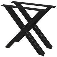 vidaXL Nogi do stołu, 2 szt., kształt litery X, 80 x 72 cm