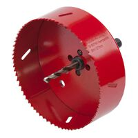 wolfcraft Otwornica, 127 mm, czerwona, 5495000