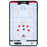 Pure2Improve Dwustronna tablica trenerska do hokeja na lodzie, 35x22cm