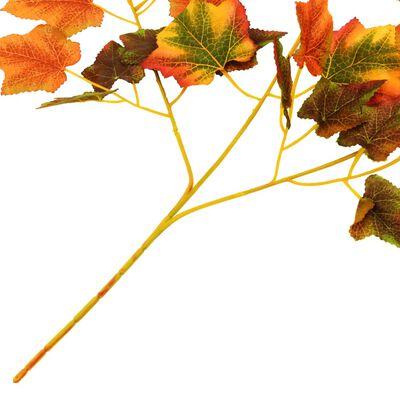 vidaXL Sztuczne gałązki winorośli, 10 szt., czerwone, 70 cm