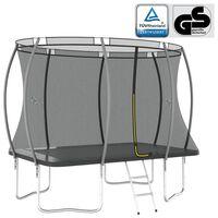 vidaXL Trampolina z akcesoriami, prostokątna, 274x183x76 cm, 150 kg