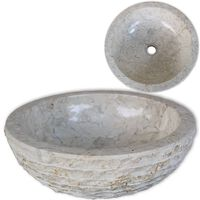 vidaXL Umywalka marmurowa, 40 cm, kremowa