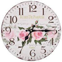 vidaXL Zegar ścienny w stylu vintage, kwiat, 30 cm
