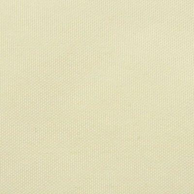 vidaXL Trójkątny żagiel ogrodowy z tkaniny oxford, 5x5x5 m, kremowy