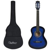 """vidaXL Gitara klasyczna dla początkujących z torbą, niebieska 3/4, 36"""""""