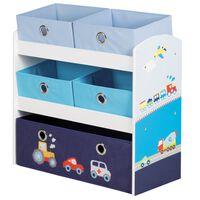 roba Regał na zabawki Racer, niebieski, 63,5 x 30 x 60 cm, MDF
